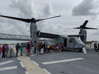 In line to board the Osprey